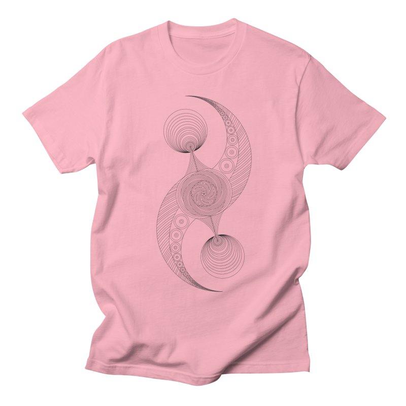 Double Crescent Men's Regular T-Shirt by Rocain's Artist Shop