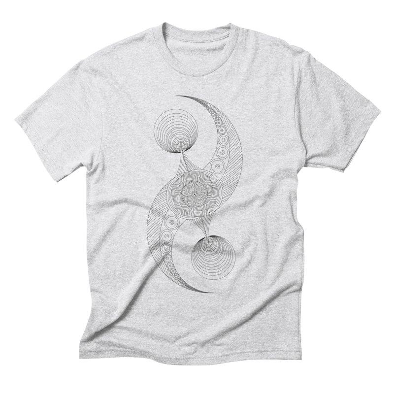 Double Crescent Men's Triblend T-Shirt by Rocain's Artist Shop