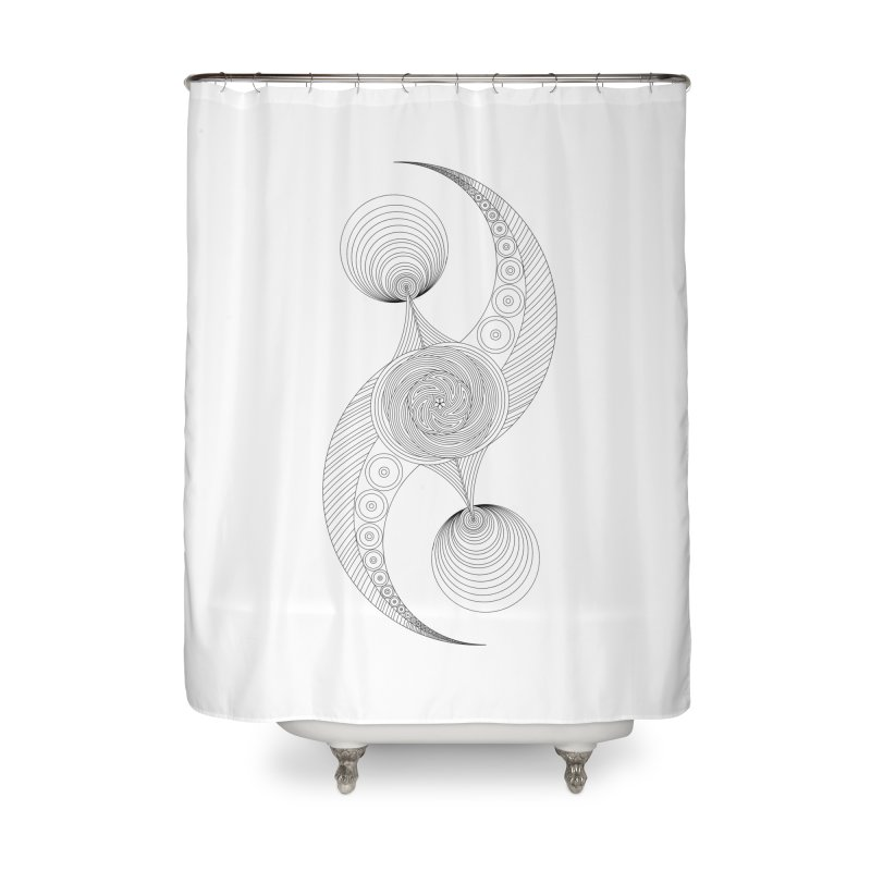 Double Crescent Home Shower Curtain by Rocain's Artist Shop
