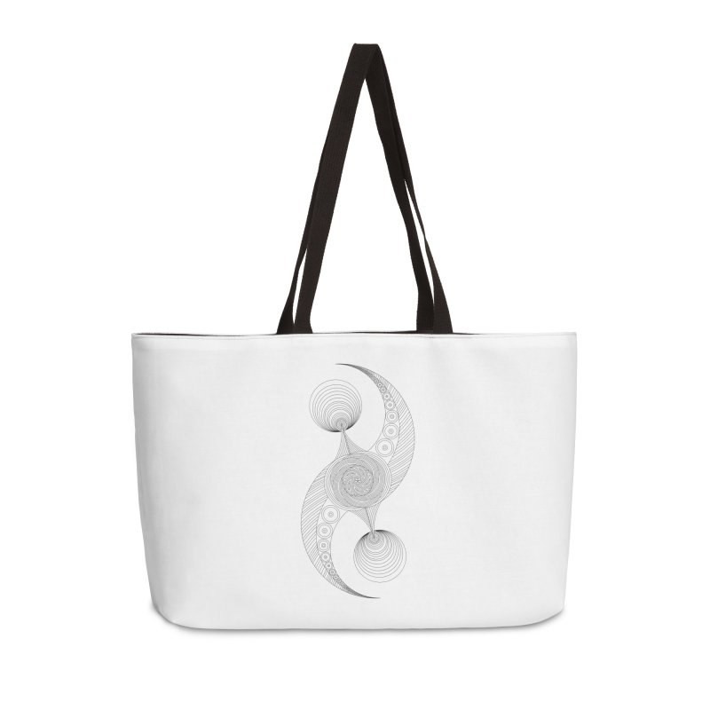 Double Crescent Accessories Weekender Bag Bag by Rocain's Artist Shop