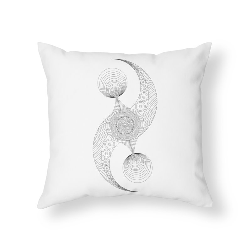 Double Crescent Home Throw Pillow by Rocain's Artist Shop