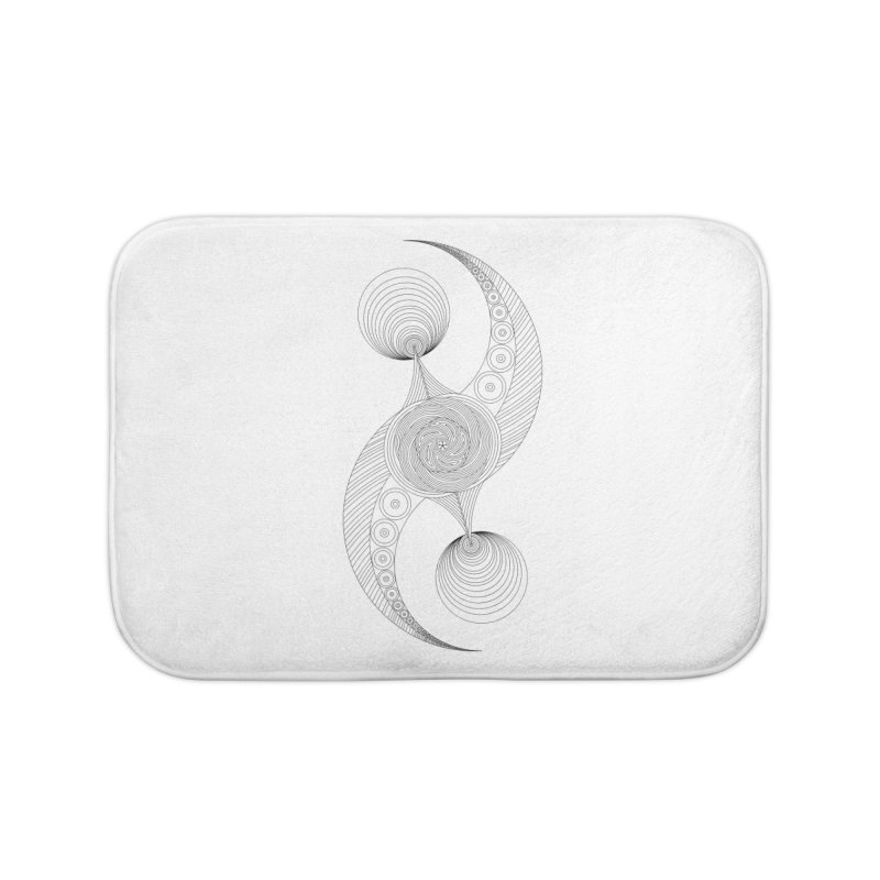 Double Crescent Home Bath Mat by Rocain's Artist Shop