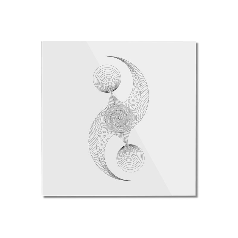 Double Crescent Home Mounted Acrylic Print by Rocain's Artist Shop