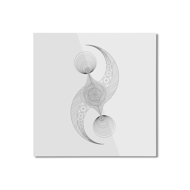 Double Crescent Home Mounted Aluminum Print by Rocain's Artist Shop