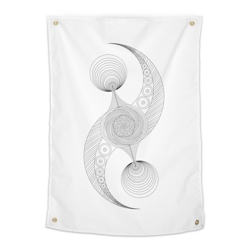 Double Crescent Home Tapestry by Rocain's Artist Shop