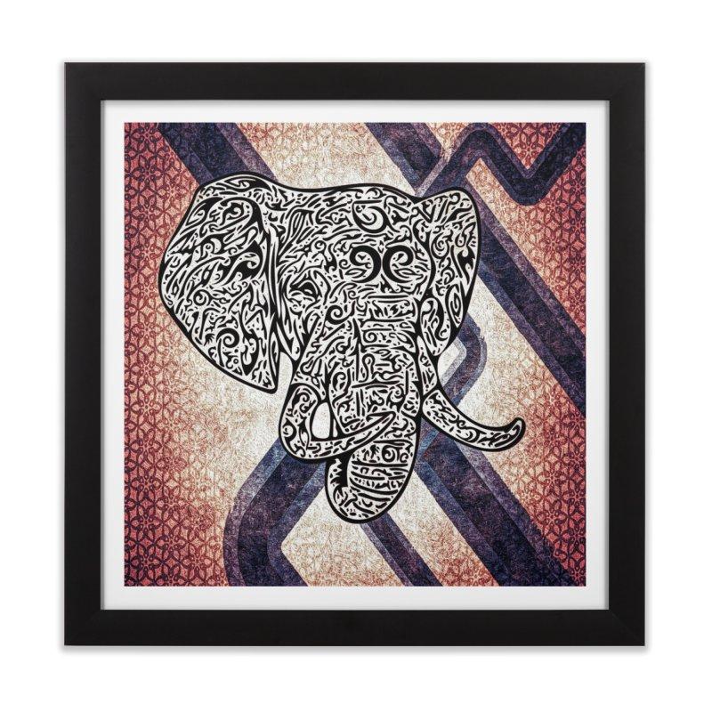 Tribal Elephant Home Framed Fine Art Print by Rocain's Artist Shop
