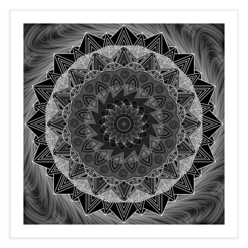 mandala 10-2 Home Fine Art Print by Rocain's Artist Shop