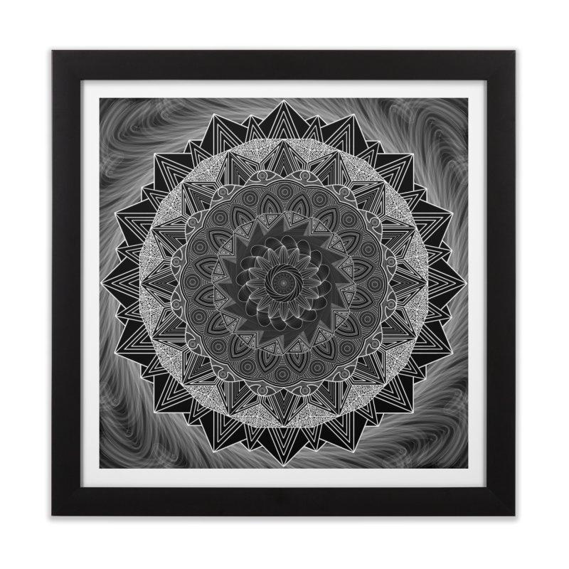 mandala 10-2 Home Framed Fine Art Print by Rocain's Artist Shop