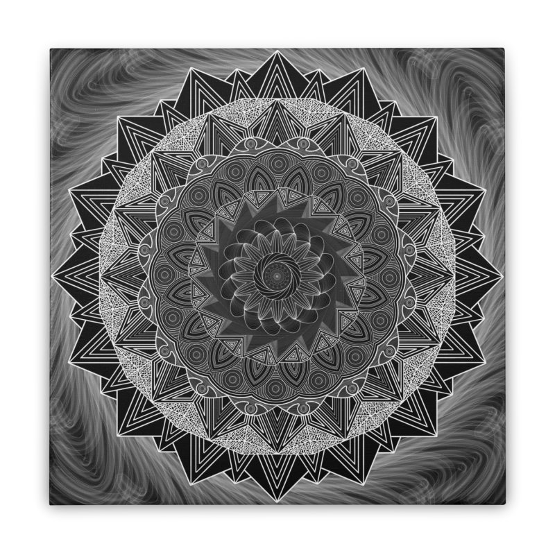 mandala 10-2 Home Stretched Canvas by Rocain's Artist Shop