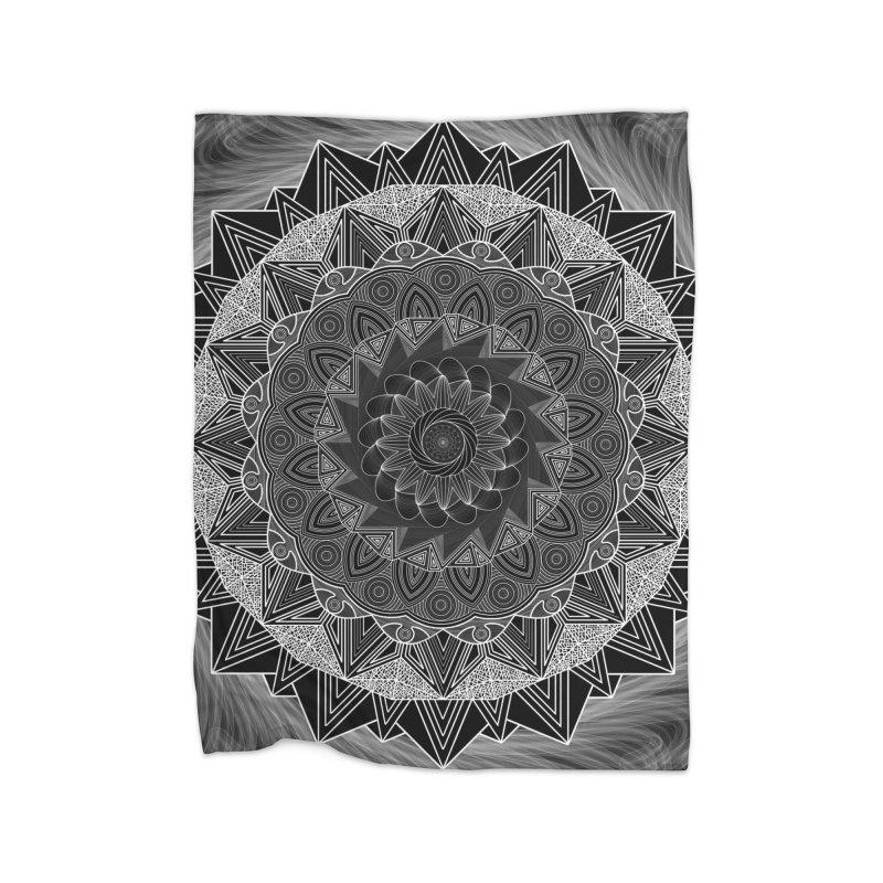 mandala 10-2 Home Blanket by Rocain's Artist Shop