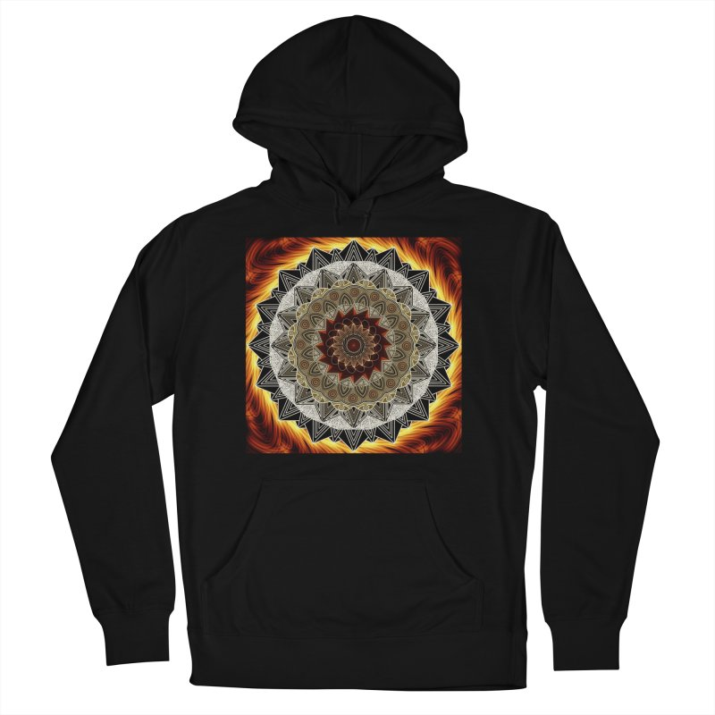 mandala 10-Fire Women's French Terry Pullover Hoody by Rocain's Artist Shop