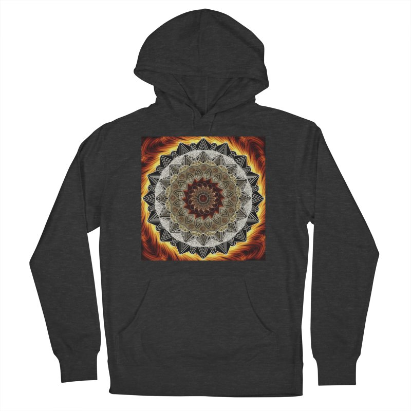 mandala 10-Fire Men's French Terry Pullover Hoody by Rocain's Artist Shop