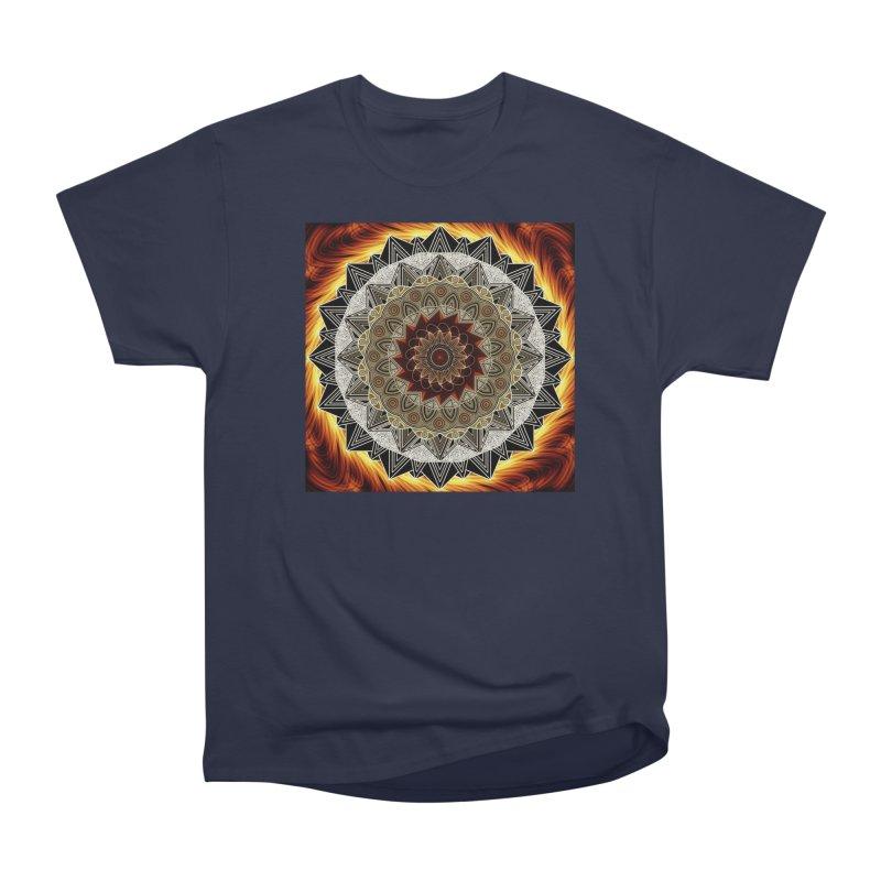 mandala 10-Fire Women's Heavyweight Unisex T-Shirt by Rocain's Artist Shop