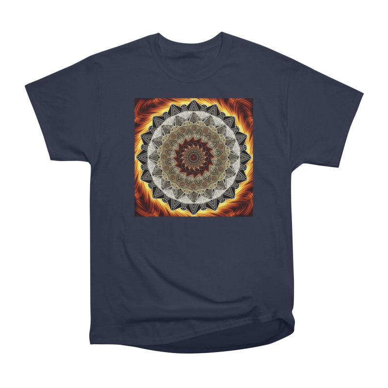 mandala 10-Fire Men's Heavyweight T-Shirt by Rocain's Artist Shop