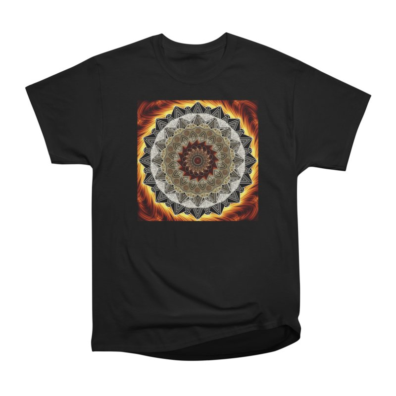 mandala 10-Fire Women's Heavyweight Unisex T-Shirt by Rocain's Artist Shop
