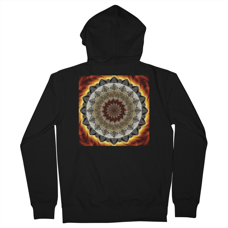 mandala 10-Fire Men's French Terry Zip-Up Hoody by Rocain's Artist Shop