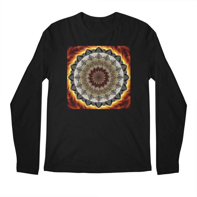 mandala 10-Fire Men's Regular Longsleeve T-Shirt by Rocain's Artist Shop
