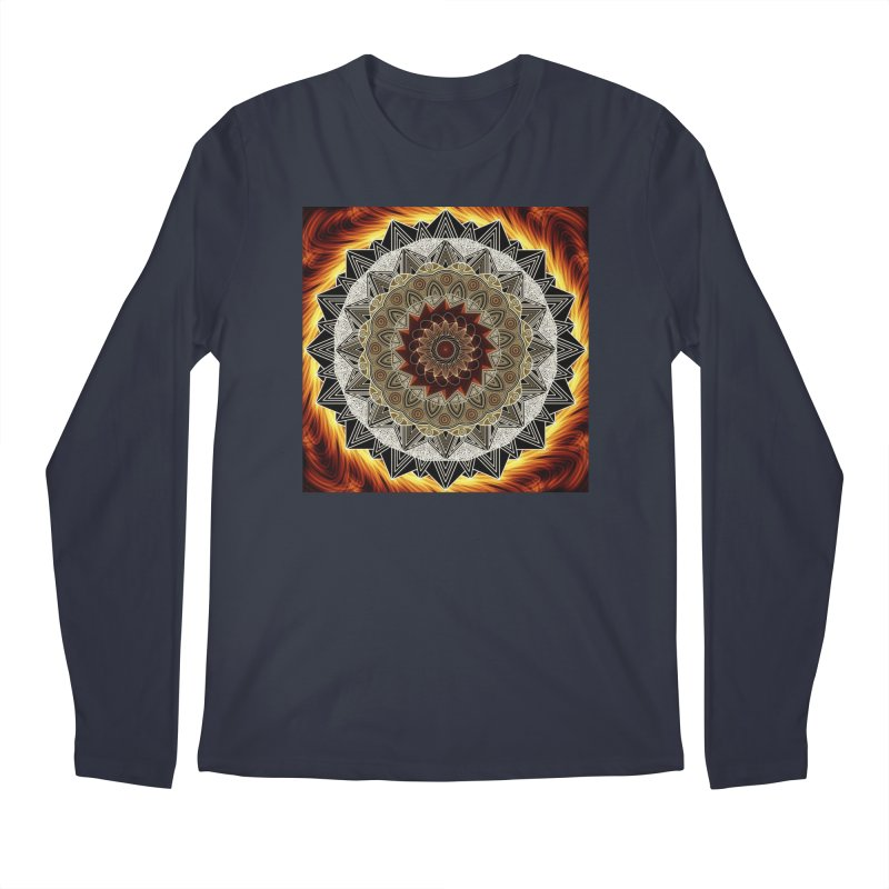 mandala 10-Fire Men's Regular Longsleeve T-Shirt by Rocain's Artist Shop