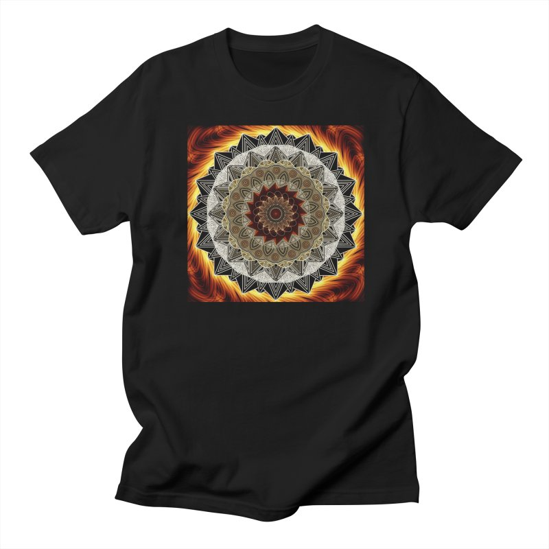 mandala 10-Fire Men's Regular T-Shirt by Rocain's Artist Shop