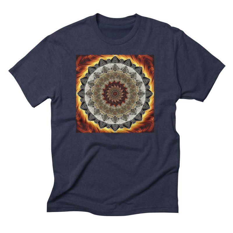 mandala 10-Fire Men's Triblend T-Shirt by Rocain's Artist Shop