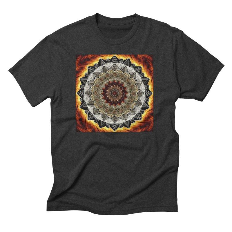 mandala 10-Fire Men's Triblend T-Shirt by Rocain's Artist Shop