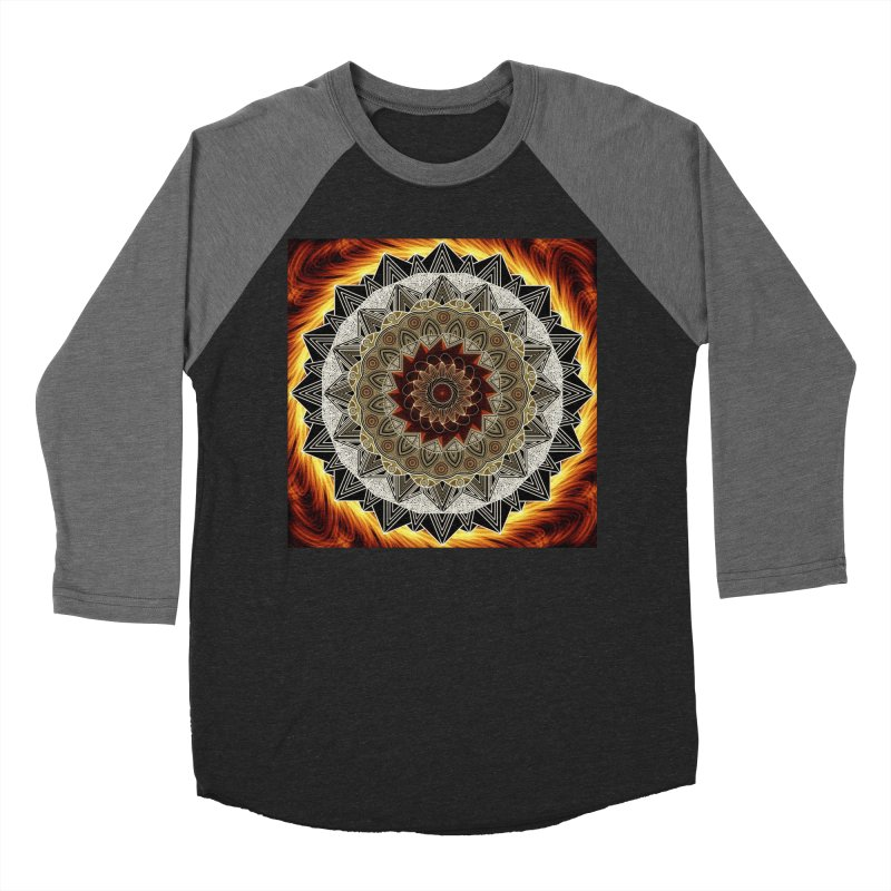 mandala 10-Fire Men's Baseball Triblend Longsleeve T-Shirt by Rocain's Artist Shop