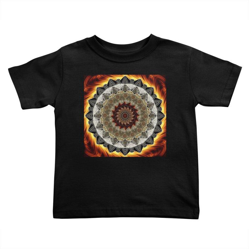mandala 10-Fire Kids Toddler T-Shirt by Rocain's Artist Shop