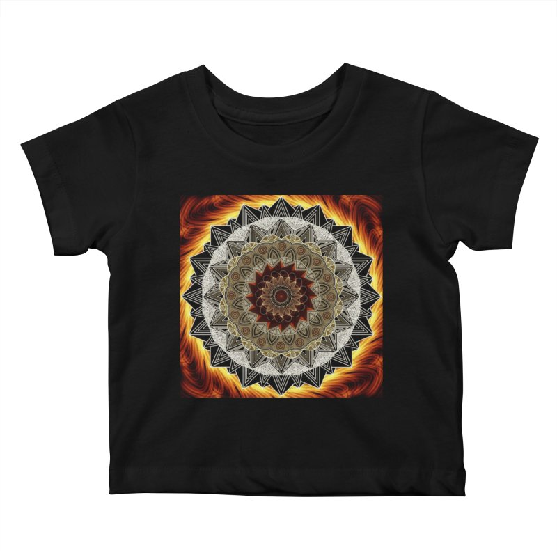 mandala 10-Fire Kids Baby T-Shirt by Rocain's Artist Shop