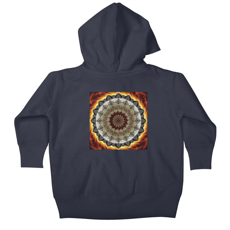 mandala 10-Fire Kids Baby Zip-Up Hoody by Rocain's Artist Shop