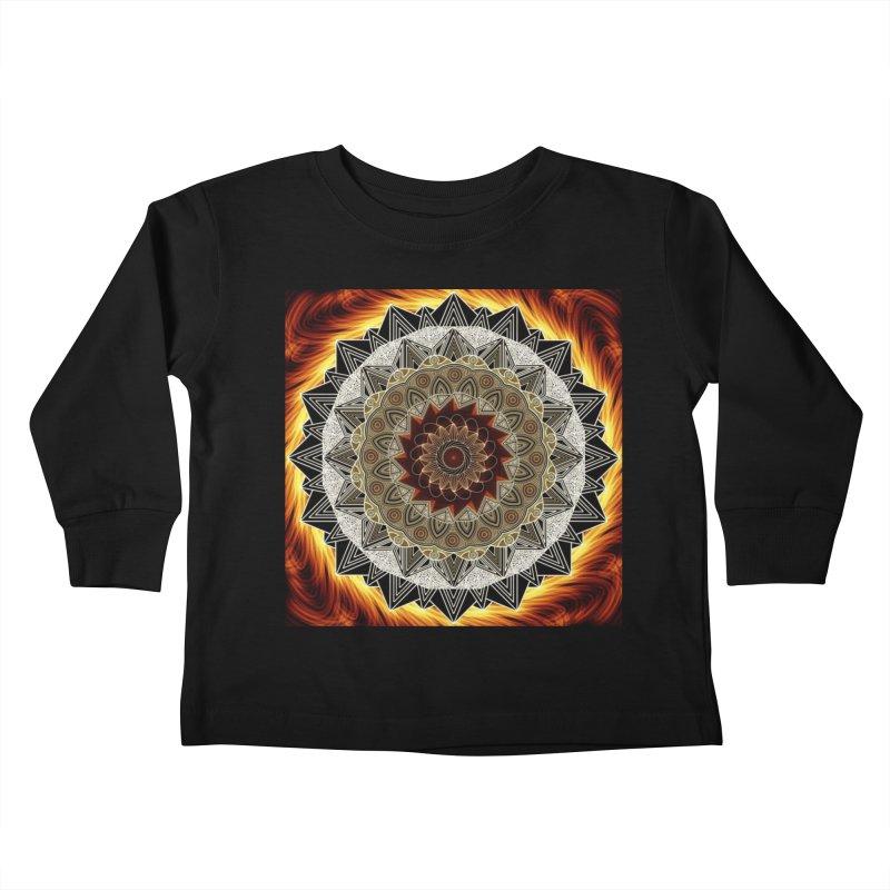 mandala 10-Fire Kids Toddler Longsleeve T-Shirt by Rocain's Artist Shop