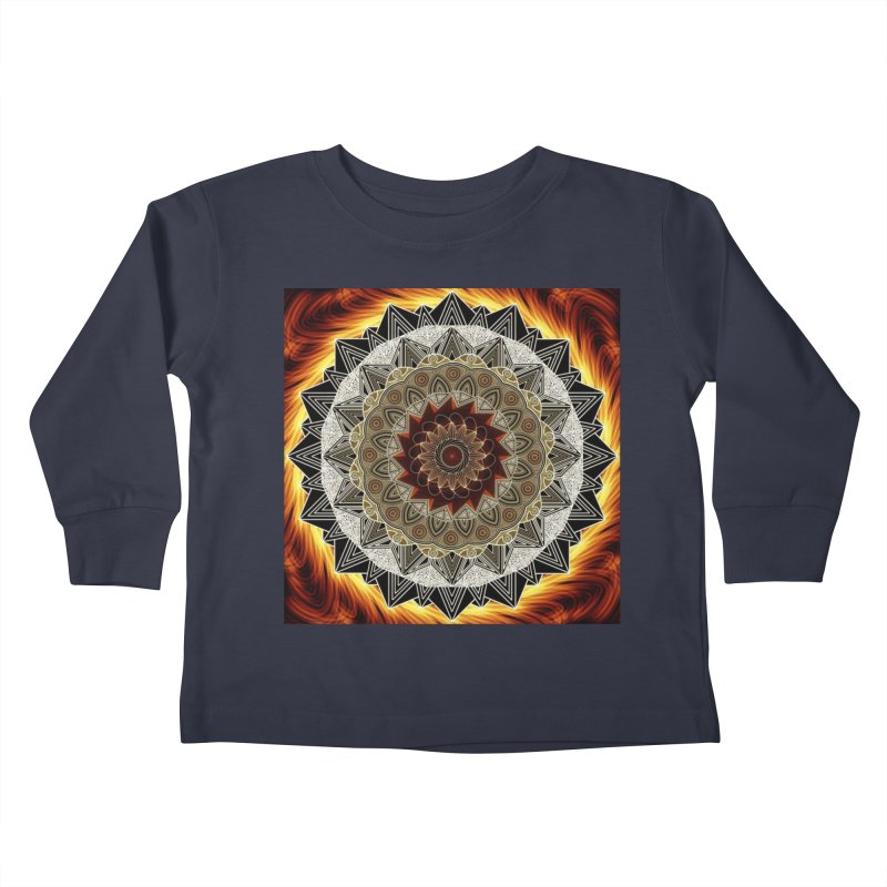 mandala 10-Fire Kids Toddler Longsleeve T-Shirt by Rocain's Artist Shop