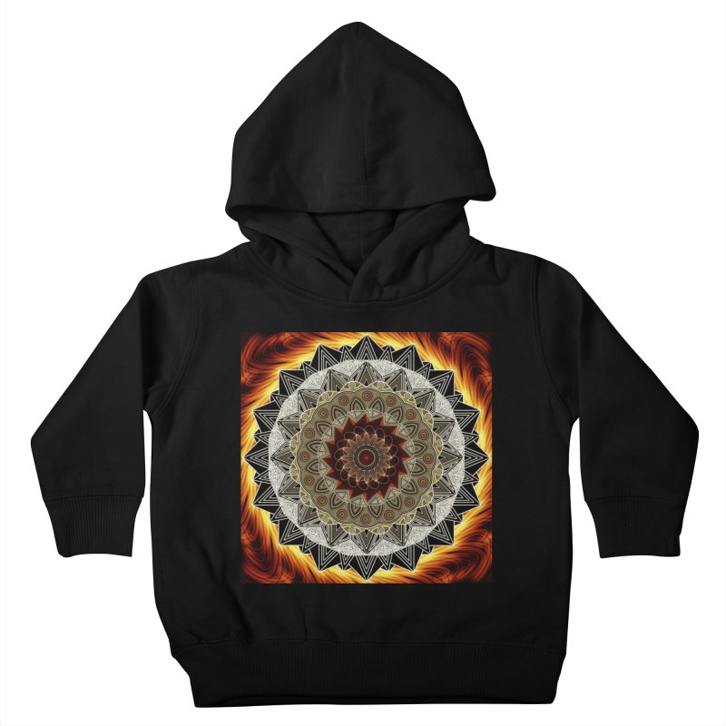 mandala 10-Fire Kids Toddler Pullover Hoody by Rocain's Artist Shop