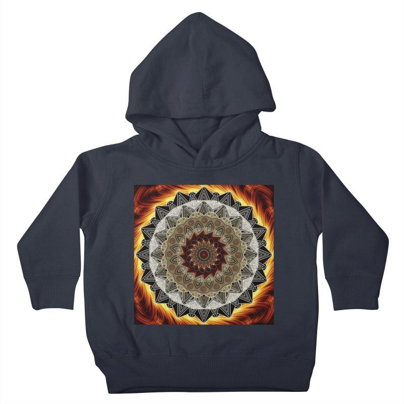 mandala 10-Fire Kids Toddler Pullover Hoody by Rocain's Artist Shop