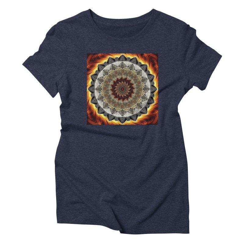 mandala 10-Fire Women's Triblend T-Shirt by Rocain's Artist Shop