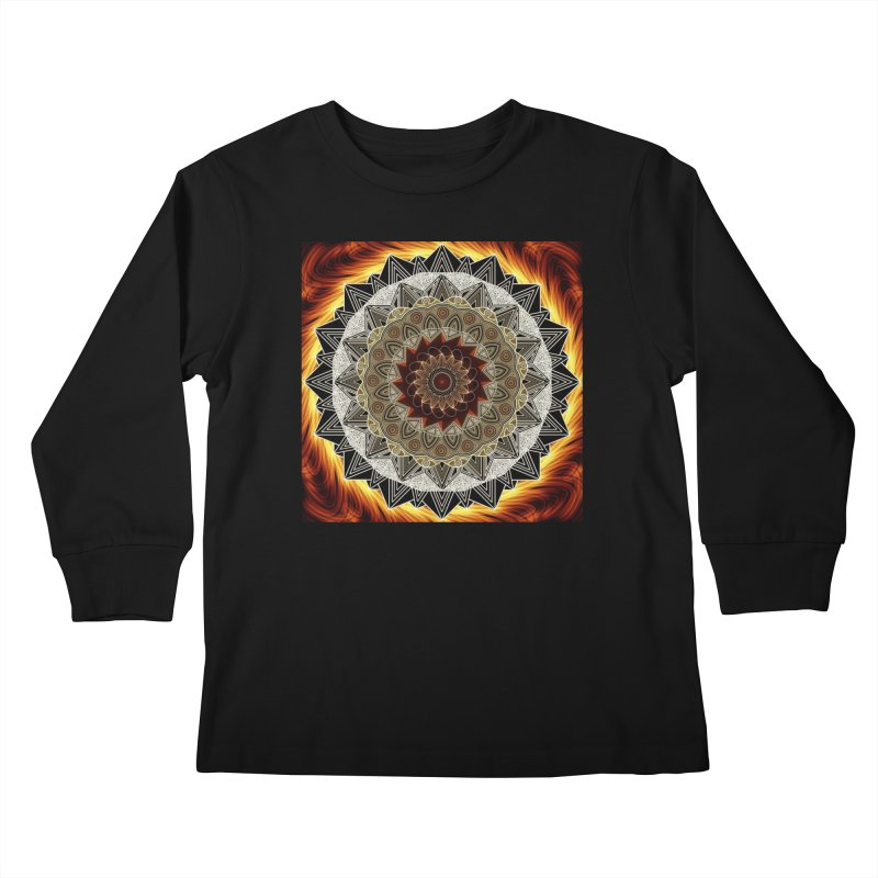 mandala 10-Fire Kids Longsleeve T-Shirt by Rocain's Artist Shop