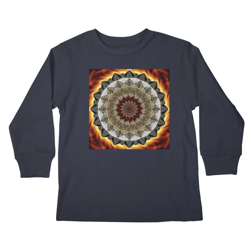 mandala 10-Fire Kids Longsleeve T-Shirt by Rocain's Artist Shop