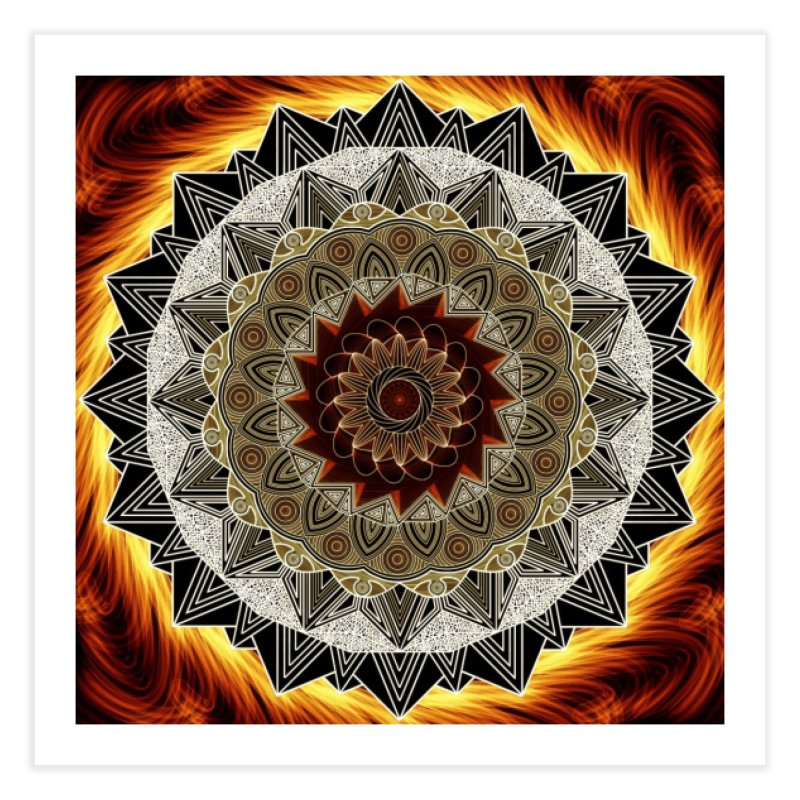 mandala 10-Fire Home Fine Art Print by Rocain's Artist Shop