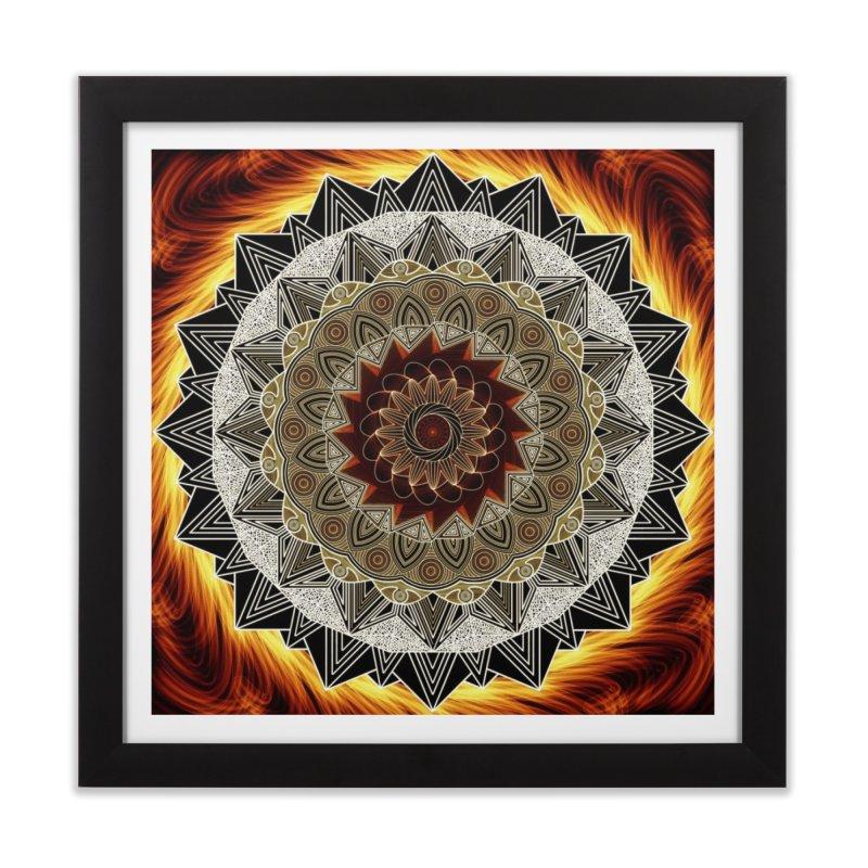 mandala 10-Fire Home Framed Fine Art Print by Rocain's Artist Shop