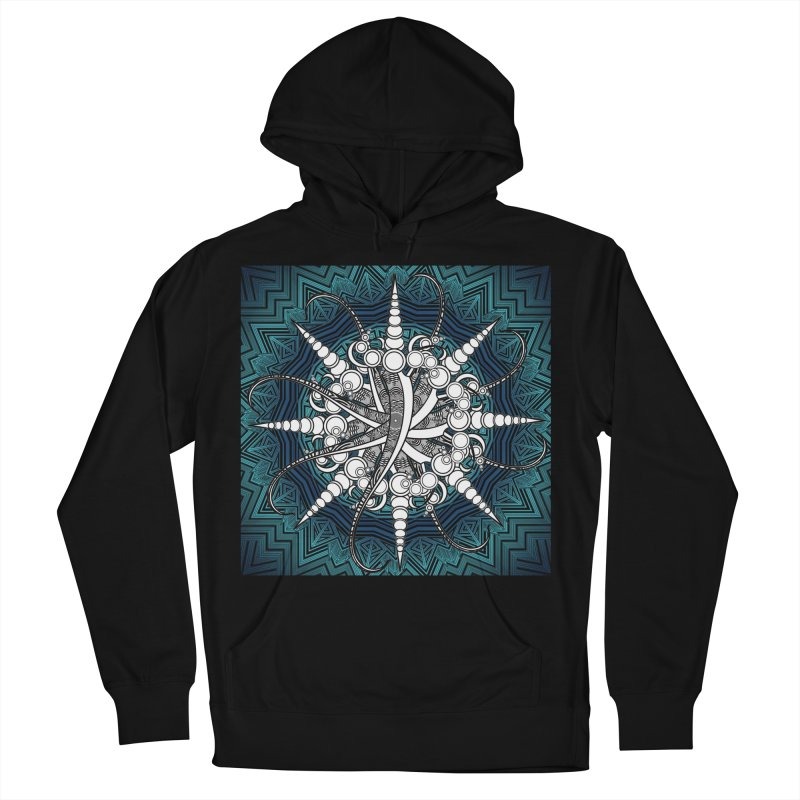Curved Sword Mandala Women's French Terry Pullover Hoody by Rocain's Artist Shop