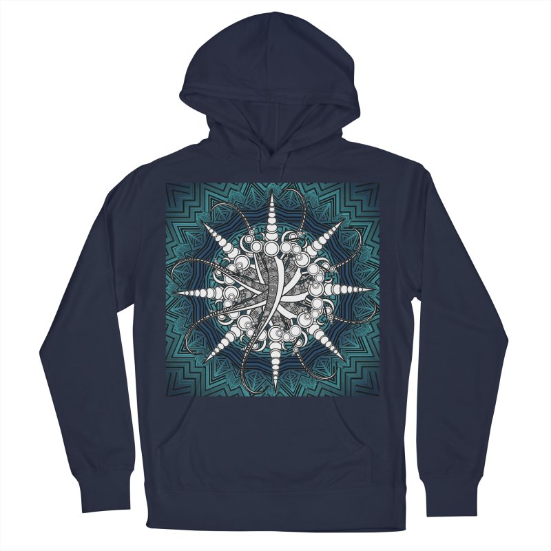 Curved Sword Mandala Men's French Terry Pullover Hoody by Rocain's Artist Shop