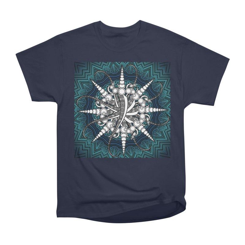 Curved Sword Mandala Women's Heavyweight Unisex T-Shirt by Rocain's Artist Shop