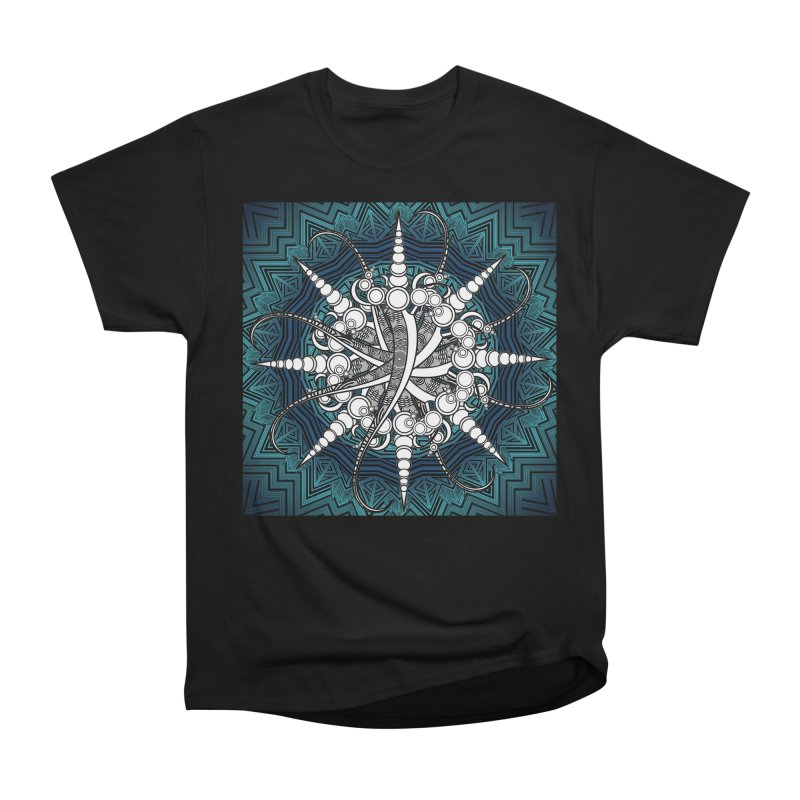 Curved Sword Mandala Women's Heavyweight Unisex T-Shirt by Rocain's Artist Shop