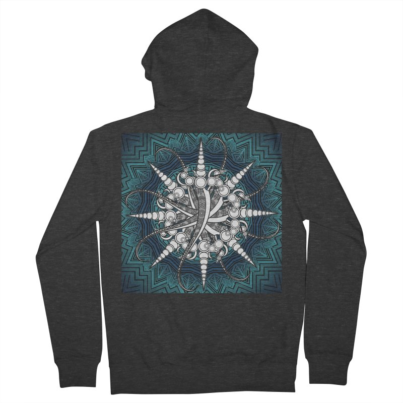 Curved Sword Mandala Women's French Terry Zip-Up Hoody by Rocain's Artist Shop