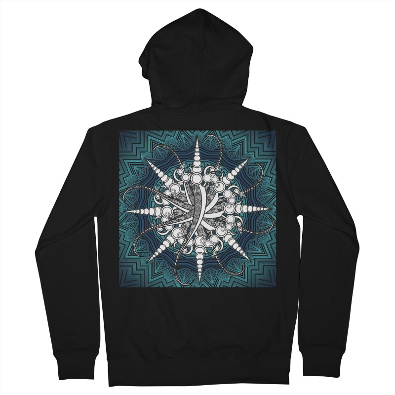 Curved Sword Mandala Men's French Terry Zip-Up Hoody by Rocain's Artist Shop