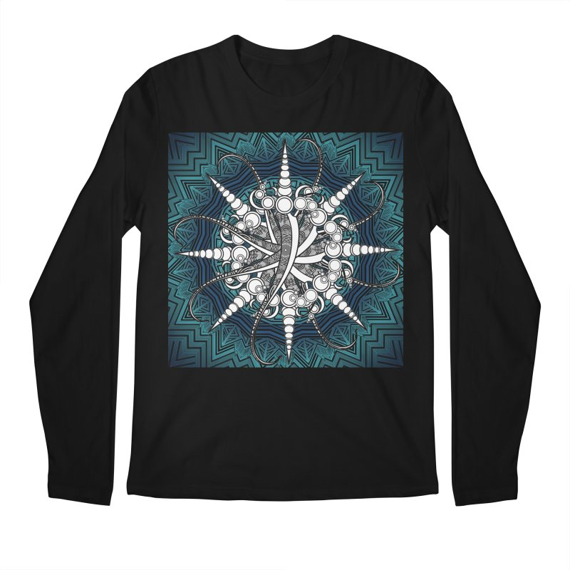 Curved Sword Mandala Men's Regular Longsleeve T-Shirt by Rocain's Artist Shop