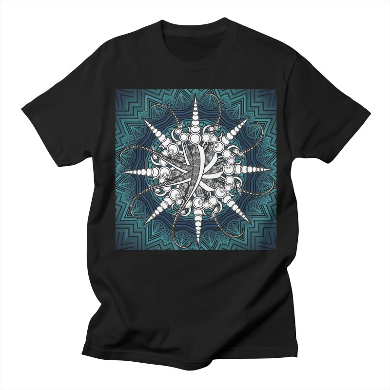 Curved Sword Mandala Men's Regular T-Shirt by Rocain's Artist Shop