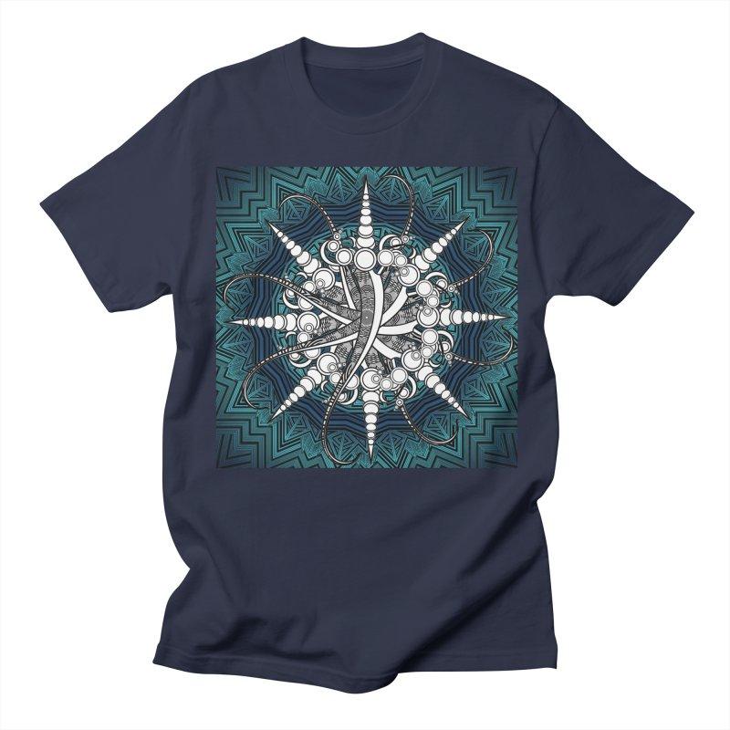 Curved Sword Mandala Men's Regular T-Shirt by Rocain's Artist Shop