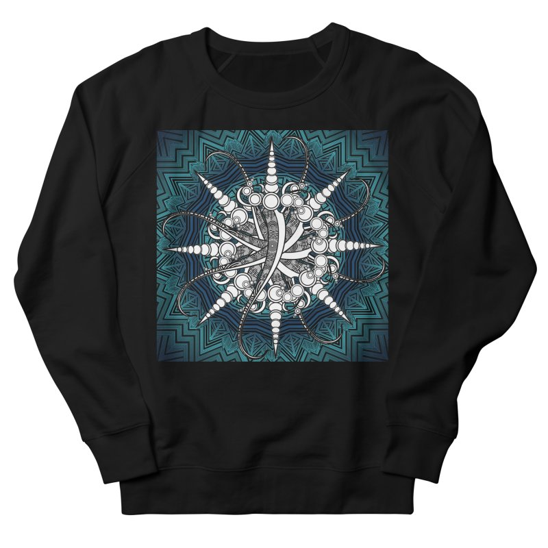 Curved Sword Mandala Women's French Terry Sweatshirt by Rocain's Artist Shop