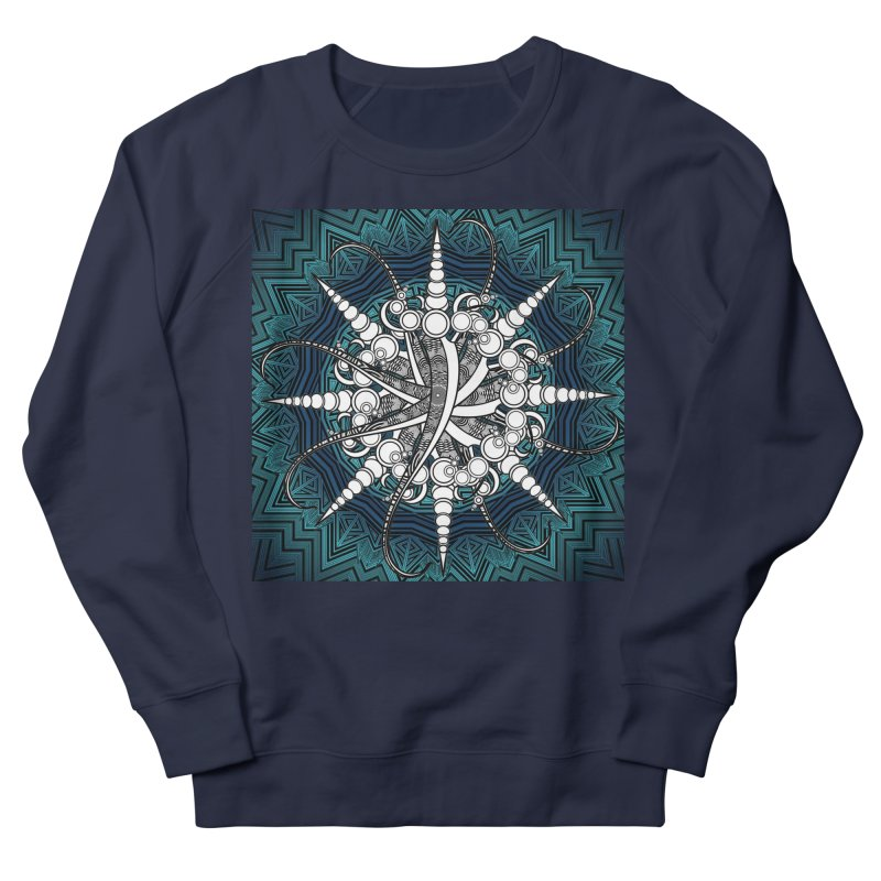 Curved Sword Mandala Women's French Terry Sweatshirt by Rocain's Artist Shop