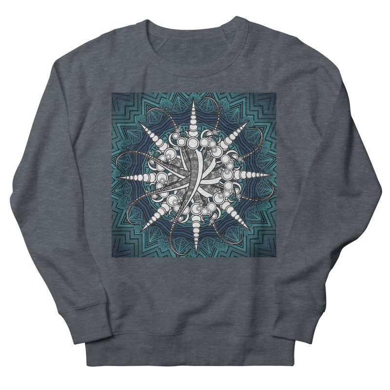 Curved Sword Mandala Men's French Terry Sweatshirt by Rocain's Artist Shop